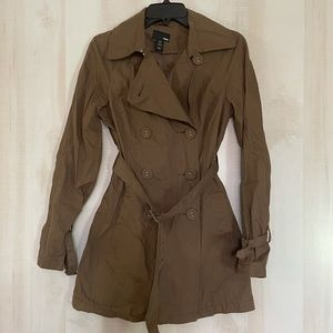 H&M short trench coat brown, size 6